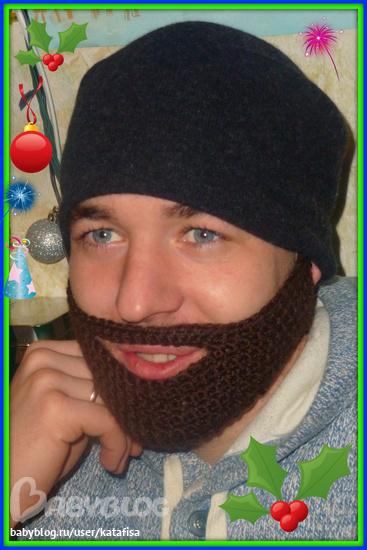 Шапка с бородой крючком схемы