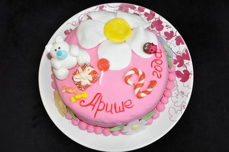 Торт из мастики для девочки 2 года своими руками фото