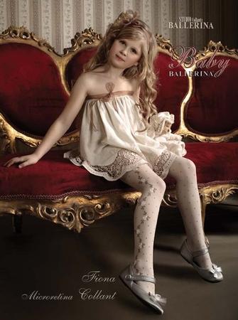 """5-6 лет.  Ballerina (Польша).  Колготки для девочек из капрона -  """"Фиона """"."""