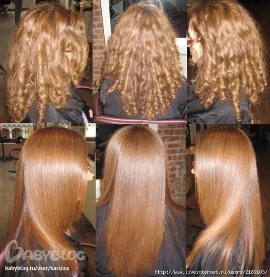 Ламинирование волос вьющихся