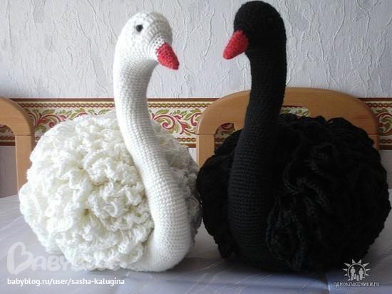 вязания этих лебедей image