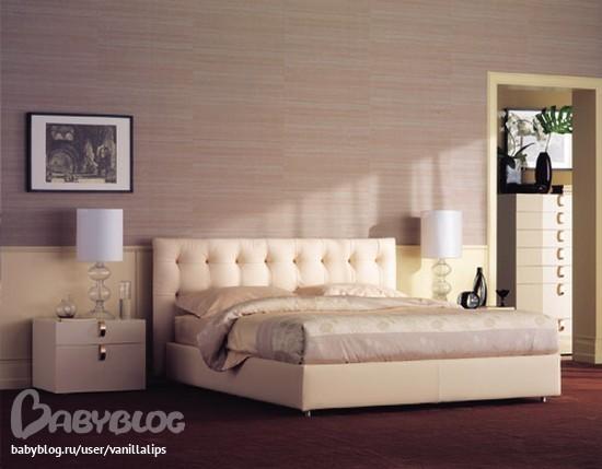 Кровать с мягким изголовьем спб