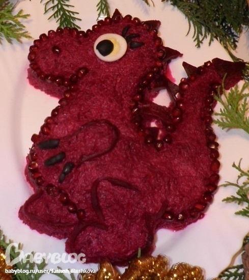Новогодние салаты рецепты с фото дракончики
