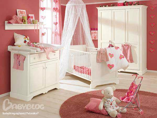 Фото комнат для девочек новорожденных