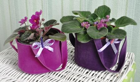 Кашпо для цветов из ткани своими руками фото 102