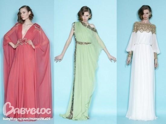 Нарядное платье в греческом стиле