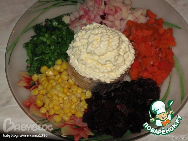 Салат светофор рецепт с фото пошагово