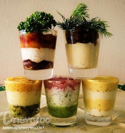Салат в стакане с фото