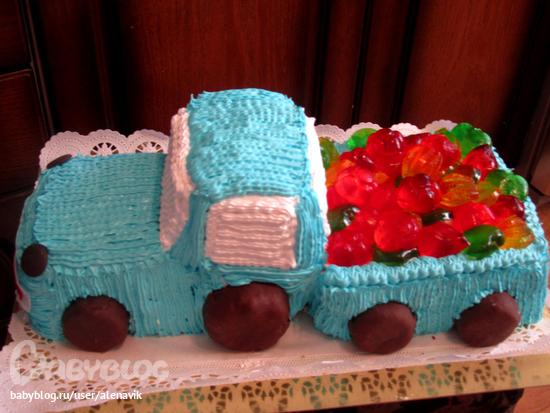 Украшаем торт машина