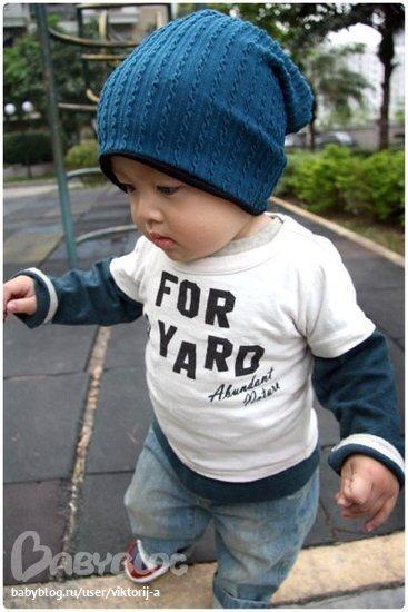 вязание крючком детские шапочки схемы.
