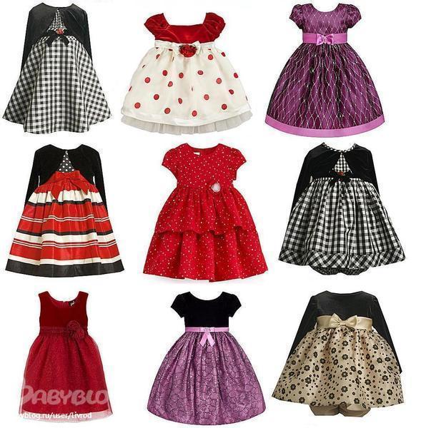 Фото красивых платьев для девочек 3 лет