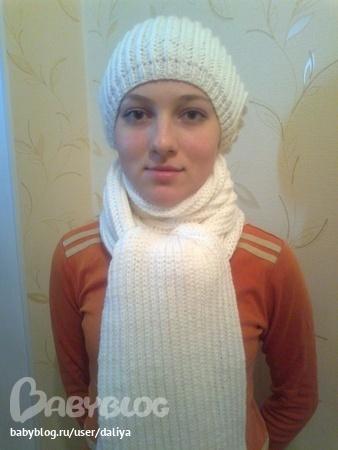Вязание шапки из пряжи лана голд ализе