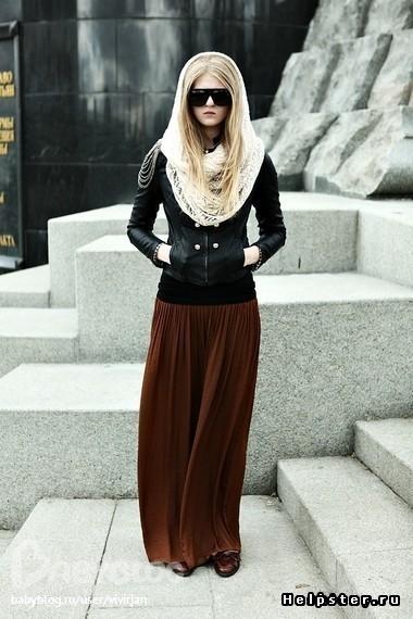 длинные юбки на осень сшить: