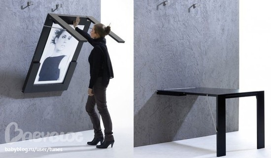 Стол трансформер на стену