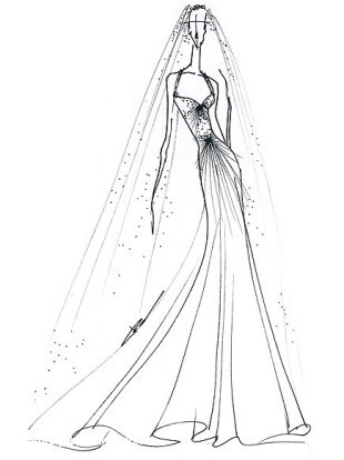 Как нарисовать пышно платье