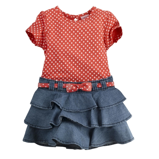 Стильное платье для девочки 2-3 лет.  Верхняя часть - хлопок, нижняя...
