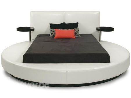 круглые кровати из массива фото.