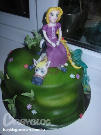 Торт с рапунцель безе - 6f44