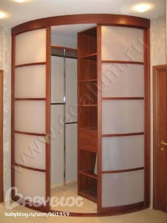 Дизайн гардеробной угловой фото