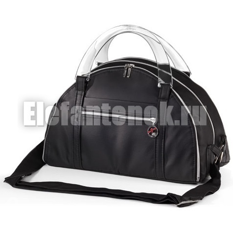 Хочу купить чёрную сумку из кожзама под коляску Hartan.