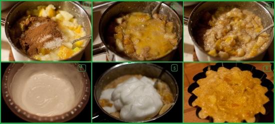 Манный пудинг с тыквой и яблоками рецепт – выпечка и