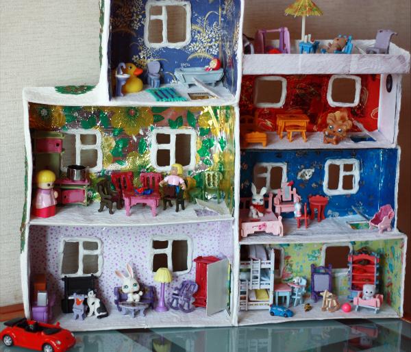 Поделки кукольный домик своими руками 63