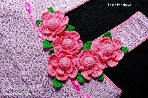 Вязание крючком цветочек 23