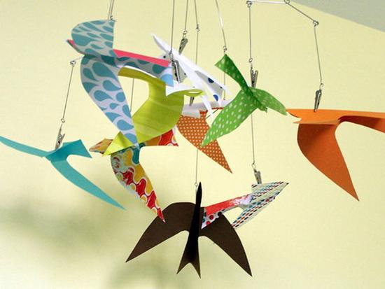 Оригами в интерьере своими руками