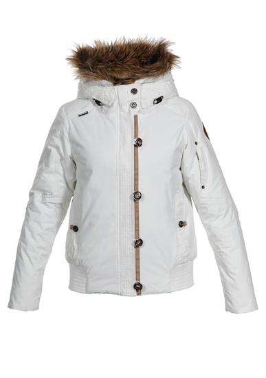 Куртка женская зимняя белая с мехом. куртки Icepeak в каталоге одежды...