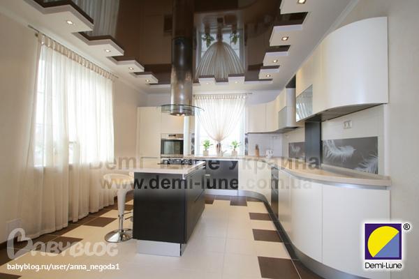 кухни темный пол фото
