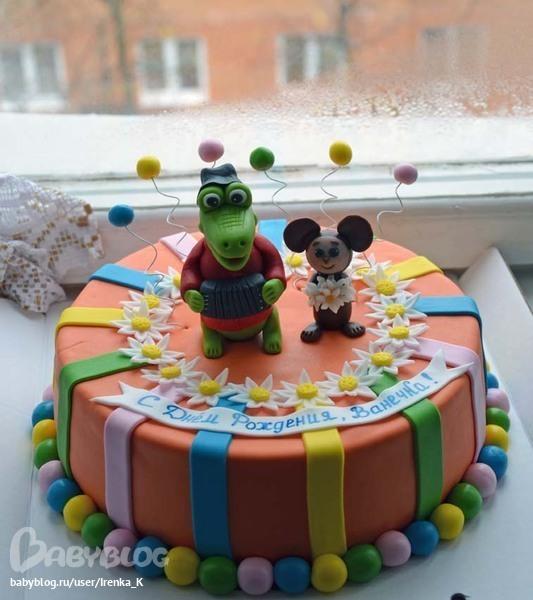 Детские торты фото чебурашка и шарики