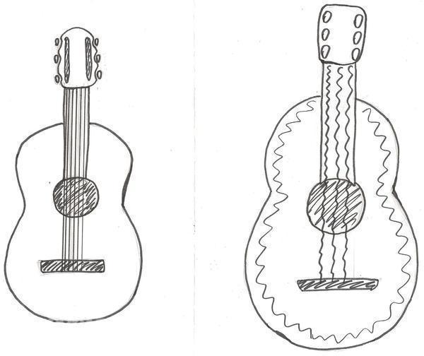 меня нарисовать гитару.