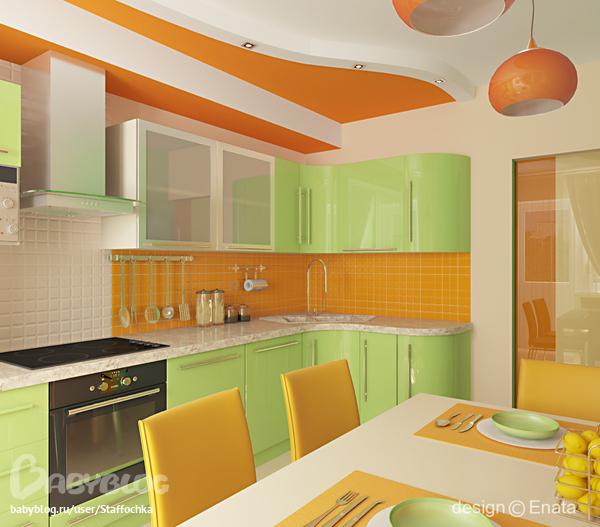 Люстра оранжевая для кухни