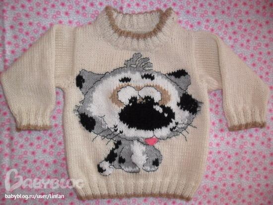 Вязание спицами для детей с вышивкой 78