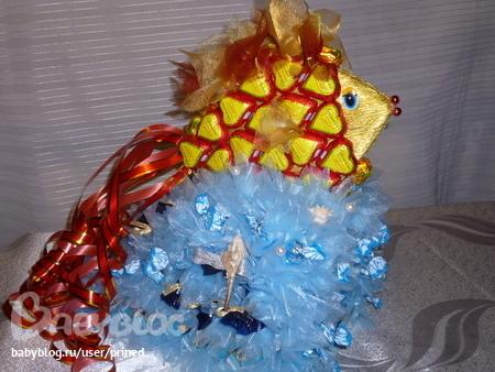Золотая рыбка конфет мастер класс