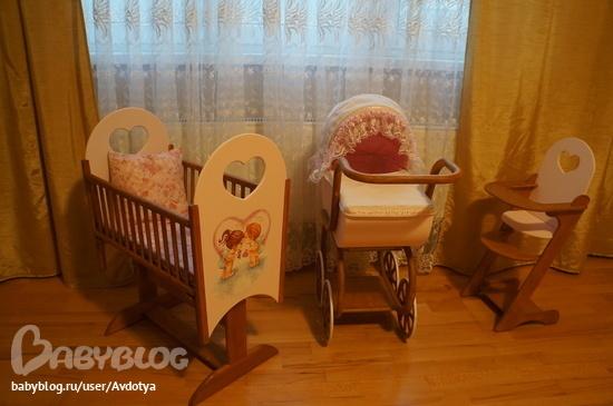 Кроватка люлька из фанеры для куклы своими руками 171
