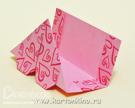 Конверт оригами по схеме