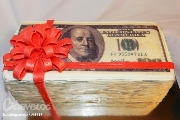 Торты фото в виде денег