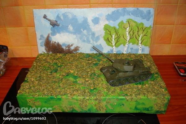 Поделка танка на 23 февраля своими руками