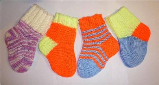 Вязание носочков малышу 1 год
