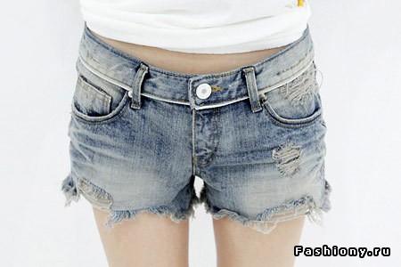 Модные женские шорты из джинса от Benetton.  С чем носить джинсовые.