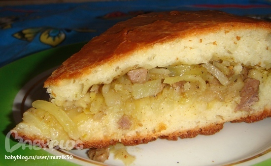 тесто на молоке для пирога с картошкой и мясом