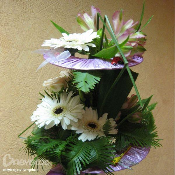 Необычный букет из живых цветов своими руками
