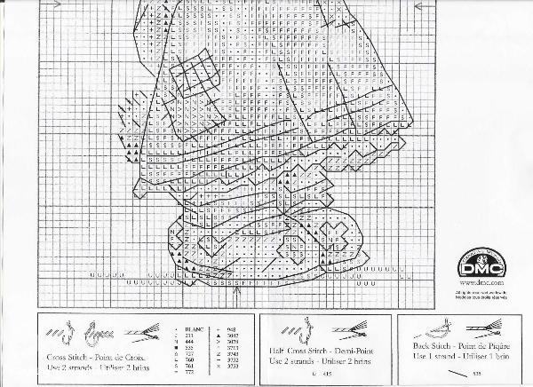 Вышивка крестиком схема зайки 740