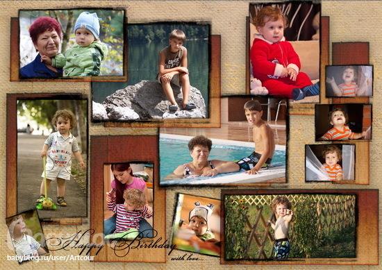 Рамки для подарка с фотографиями внуков 17