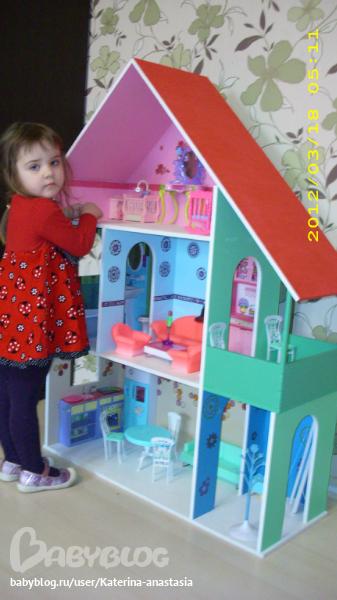 Домик для куклы из фанеры своими руками фото