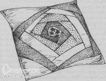 Схема лоскутной подушки