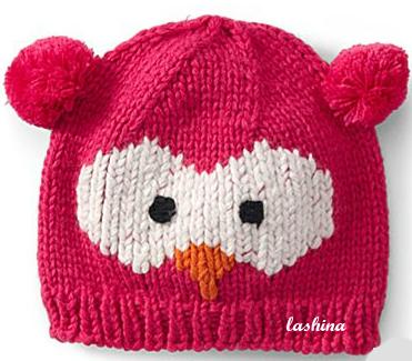 """Детская шапка  """"Сова розовая """" 900 руб."""