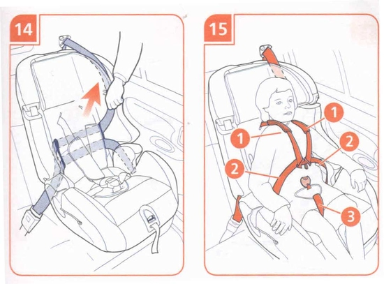 Установка детского кресла на