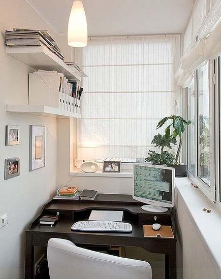 Дизайн застекленного балкона.фото